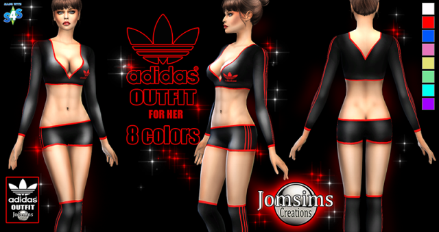 Adidas Outfit for Females by JomSims