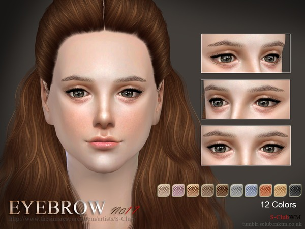 S-Club WM thesims4 Eyebrows17 F
