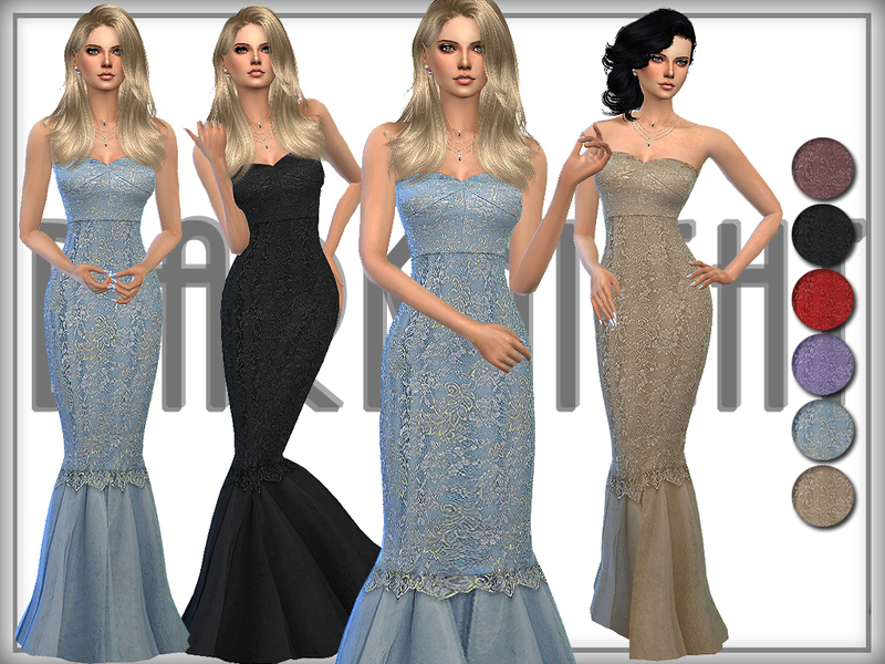 Strapless Lace-Tulle Gown   BY DarkNighTt