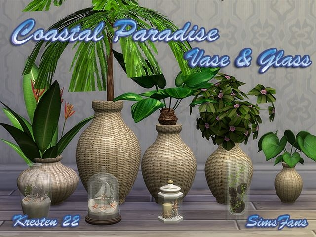 Coastal Paradise - Vase & Glass by Kresten22