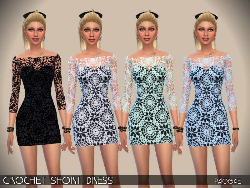 CrochetShortDress  BY Paogae