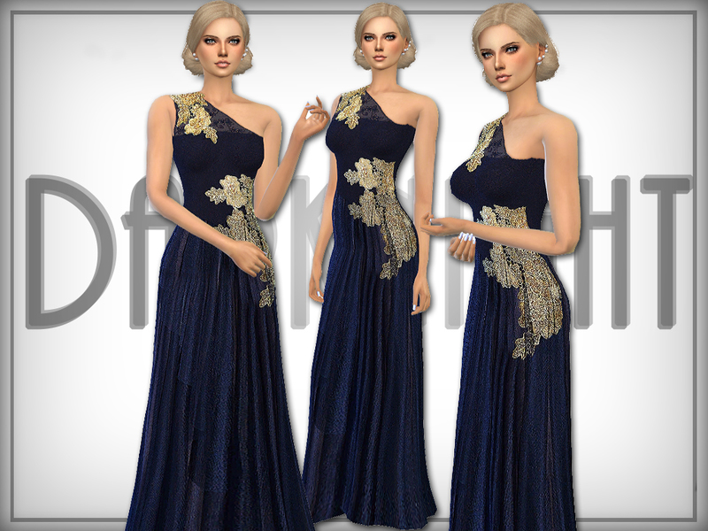 Golden Detail Tulle Gown   BY DarkNighTt