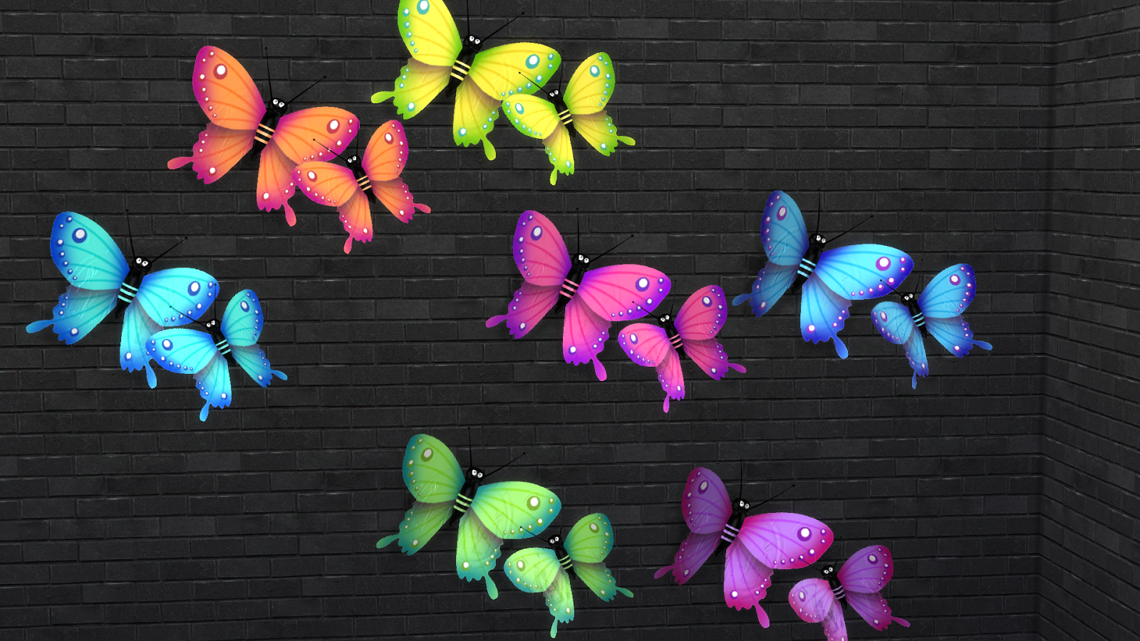 Holy Simoly Butterflies  by Leo4Sims