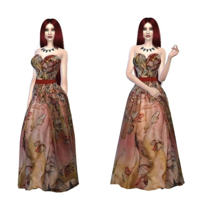 Elie Saab Gown by FancyTaleSims4