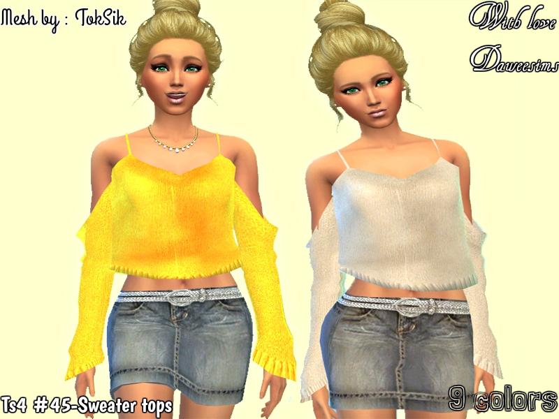 Ts4 #45-Sweater tops by Daweesims