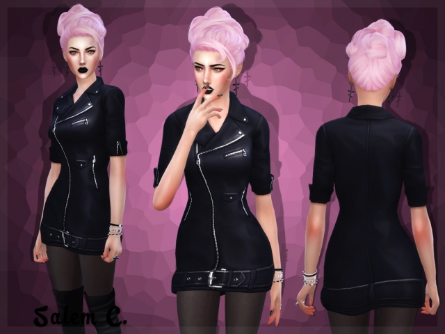Biker Short Dress by Salem C