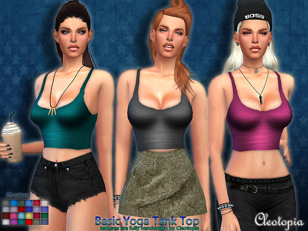 Set46- Basic Yoga Tank by Cleotopia