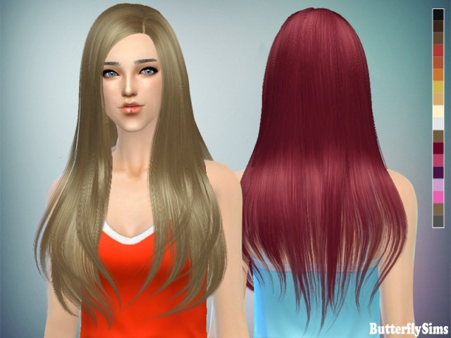 Sims4 Hairstyle baf145 by ButterflySims