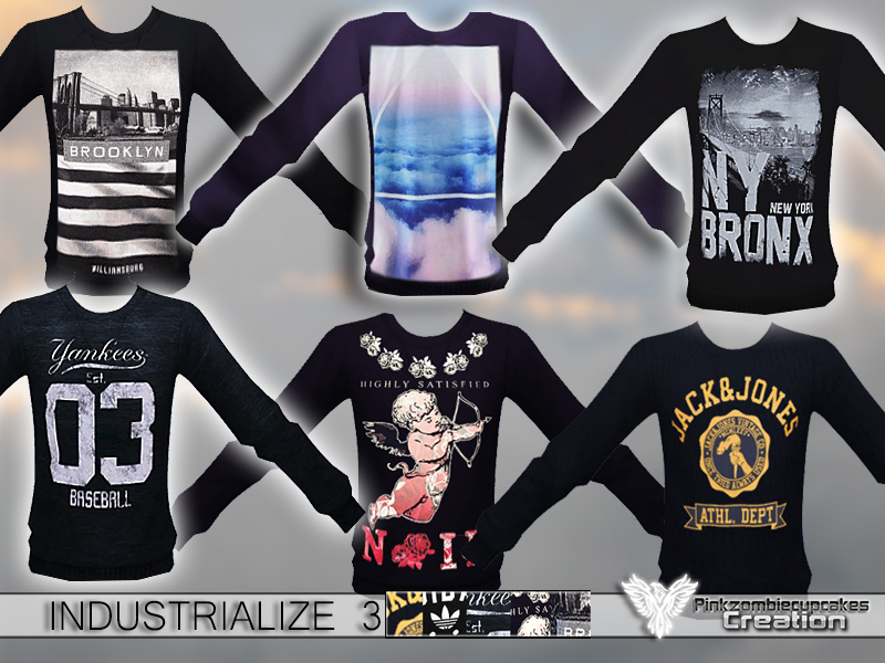 Industrialize 3 Pack Sweatshirts  BY Pinkzombiecupcakes