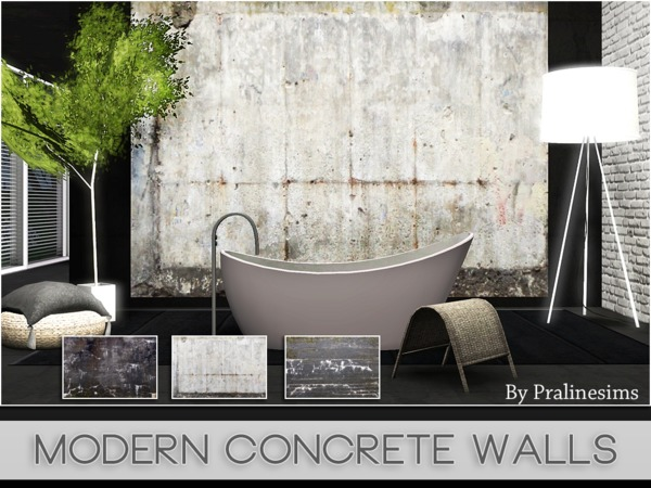 Modern Concrete Walls by Pralinesim