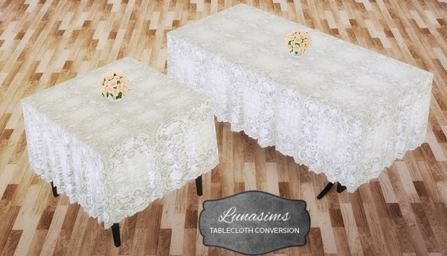 Lunasims tablecloth conversion by Mio