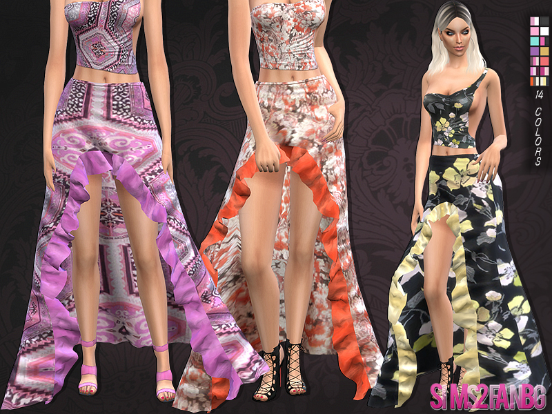 101 - Waterfall skirt   BY sims2fanbg