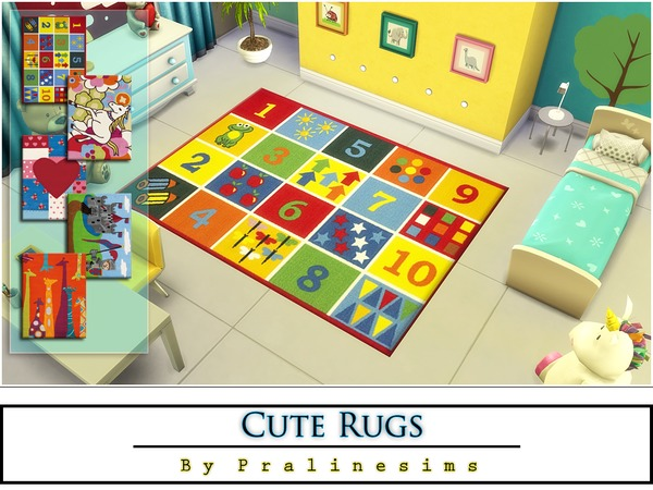 Cute Rugs by Pralinesims