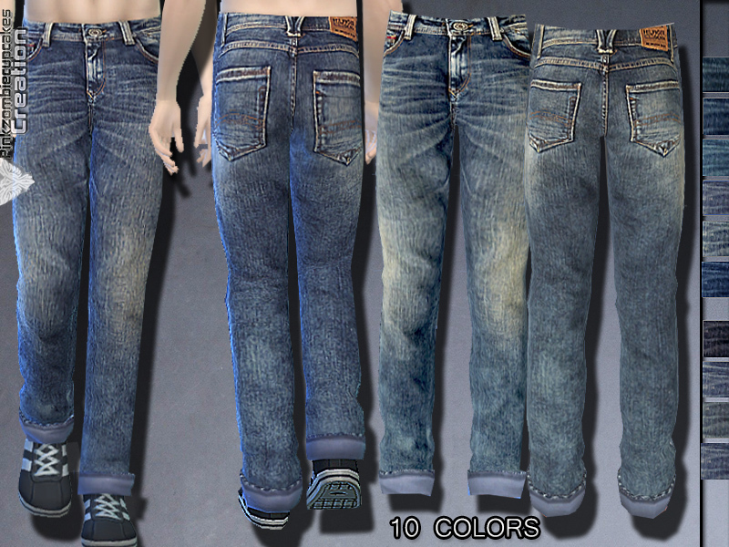 Distressed Denim Jeans for Male  BY Pinkzombiecupcakes