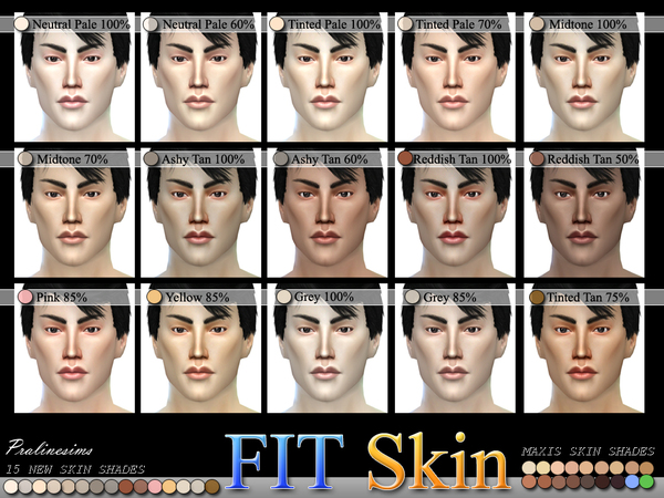 PS MF FIT Skin Shades ALL AGES  AO N04 by Pralinesims