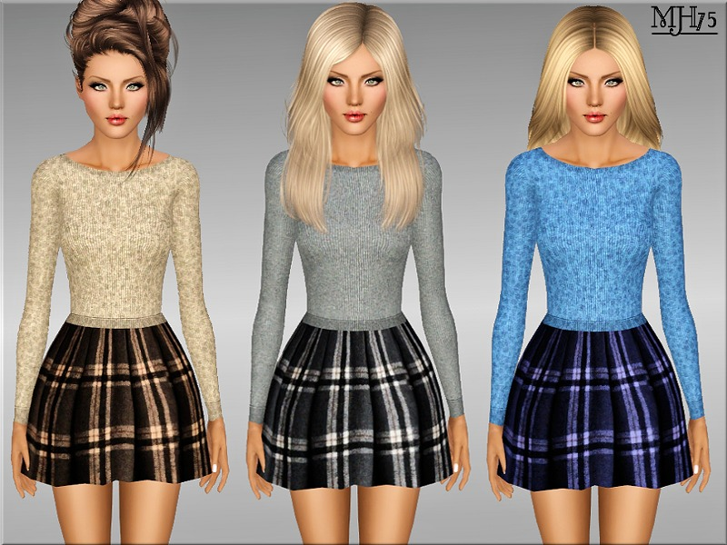 S3 Wool And Tartan Outfit by Margeh-75