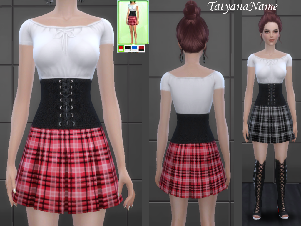 Tatyana Name  Clothing, Female : Dress 03