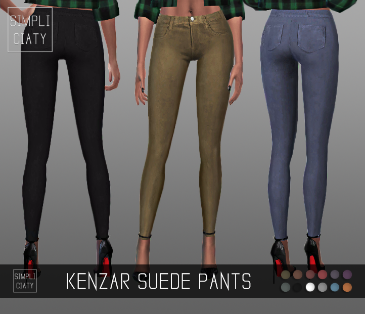 Simpliciaty  Clothing, Female : Kenzar Suede Pants
