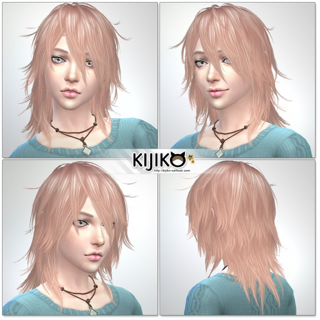 Pink & Fluffy TS3 to TS4 conversion (for Female) by Kijiko