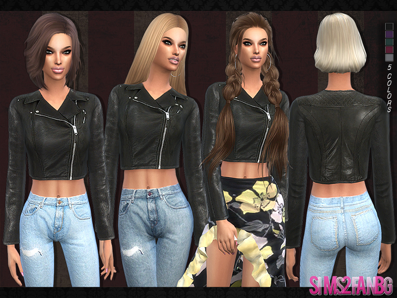 103 - Leather jacket BY sims2fanbg