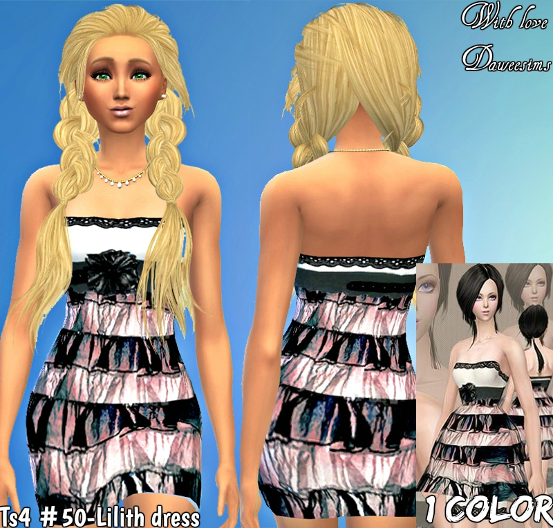 Ts4 #50-Lilith dress by Daweesims