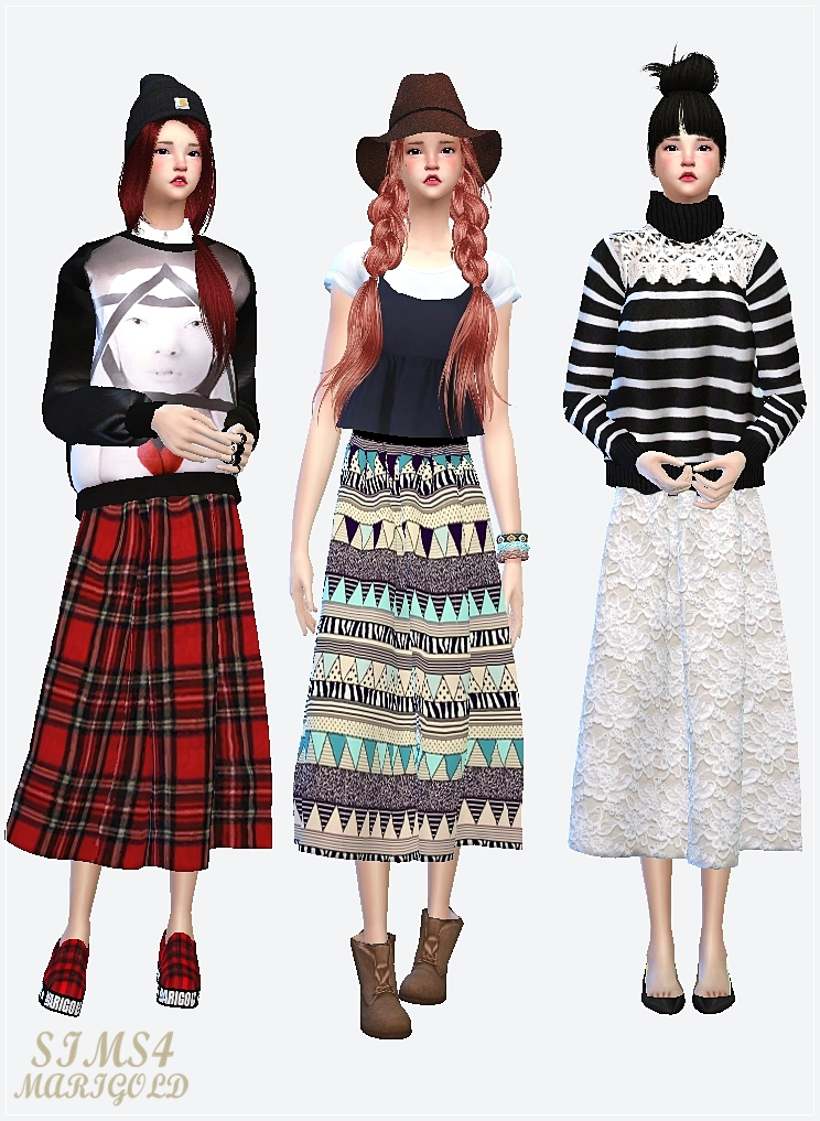 long flare skirt by marigold