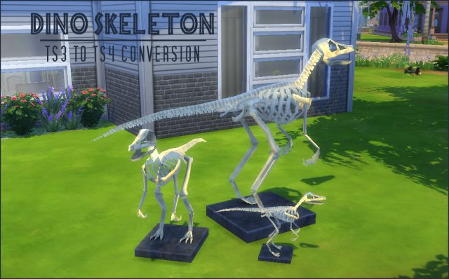 TS3 Dino Skeleton Conversions by JorghaHaq