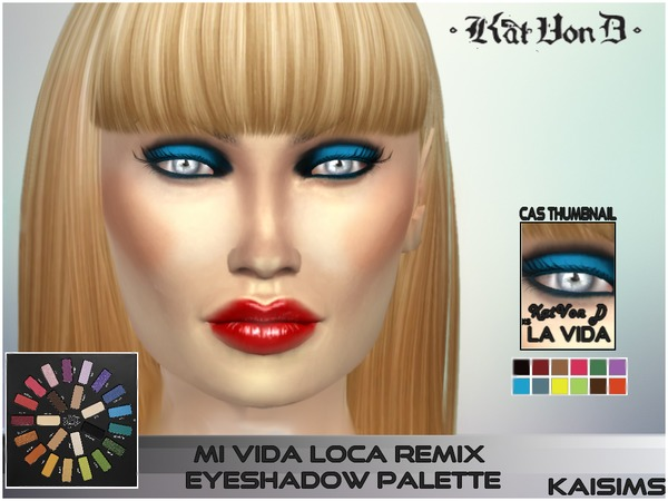 Kat Von D_ La Vida Remix_Eyeshadow Set by -KaiSims-