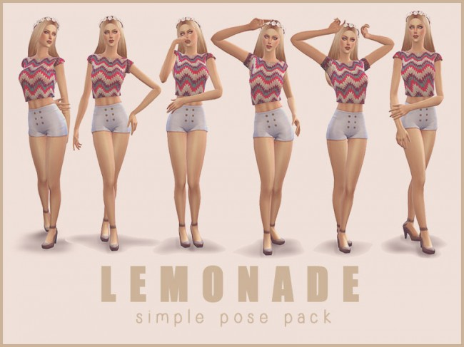 [ LEMONADE ] - Simple Pose Pack от Screaming Mustard