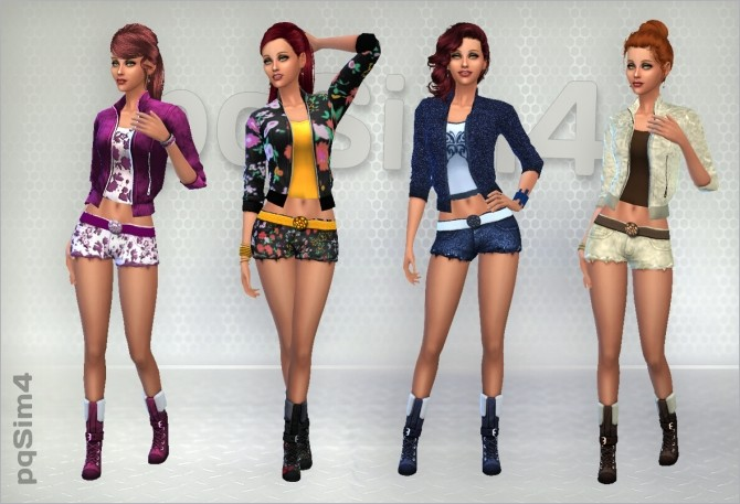 SET JACKET, SHORTS AND BOOTS BY PQSIMS4