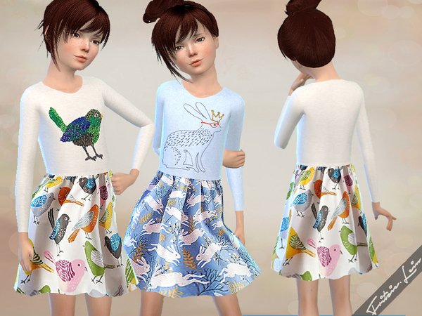 Girls Dress with Animal Print by Fritzie.Lein