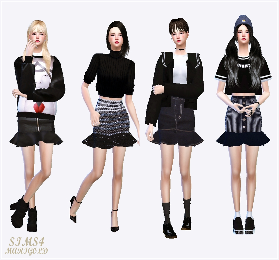 Skirts by Sims 4 Marigold