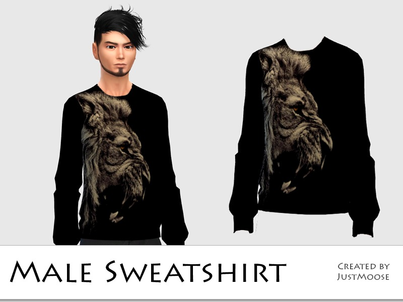 Male sweatshirt with lion BY JustMoose