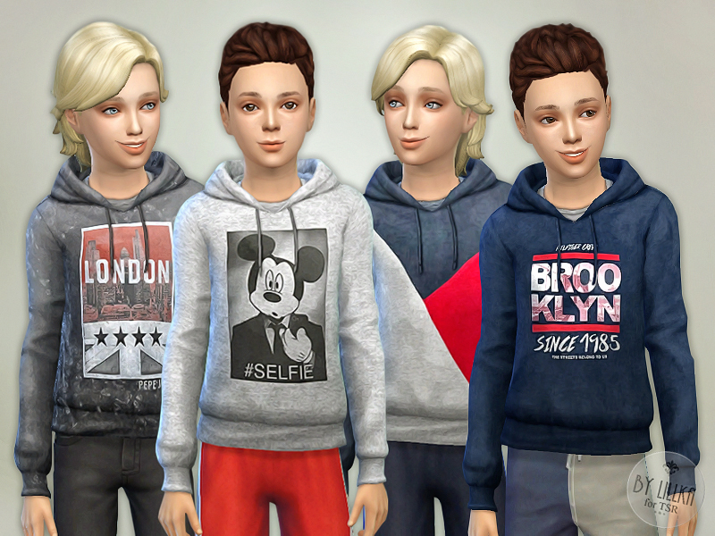 Hoodie for Boys P05 BY lillka
