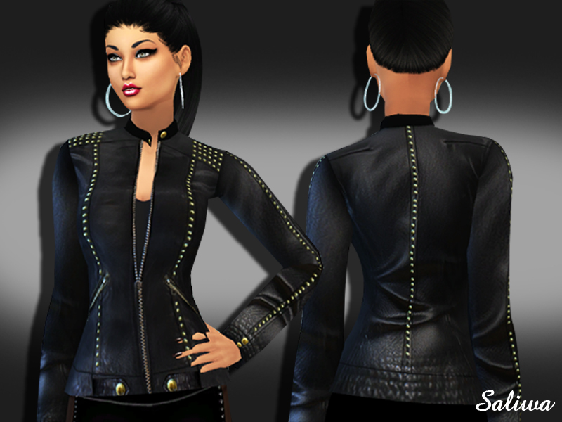 Realistic Designer Leather Jacket by Saliwa