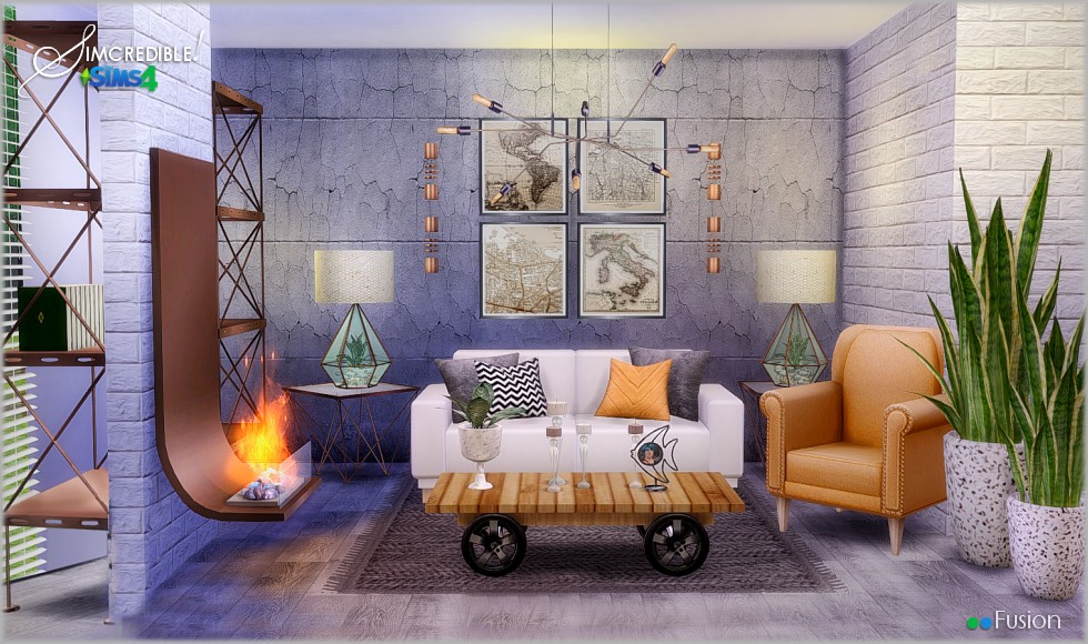 Fusion Living Set by Simcredible Designs