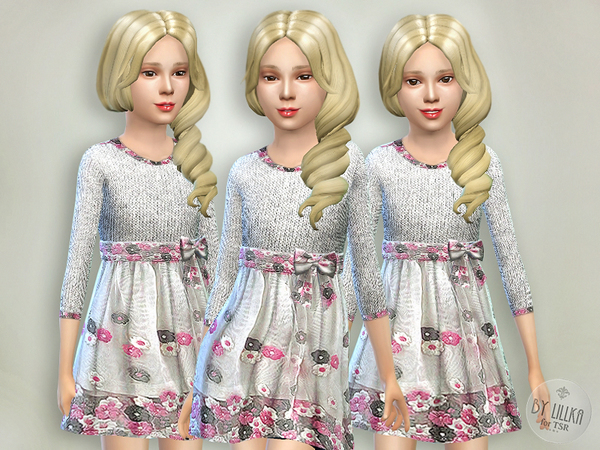 Gray & Pink Knitt Dress by lillka