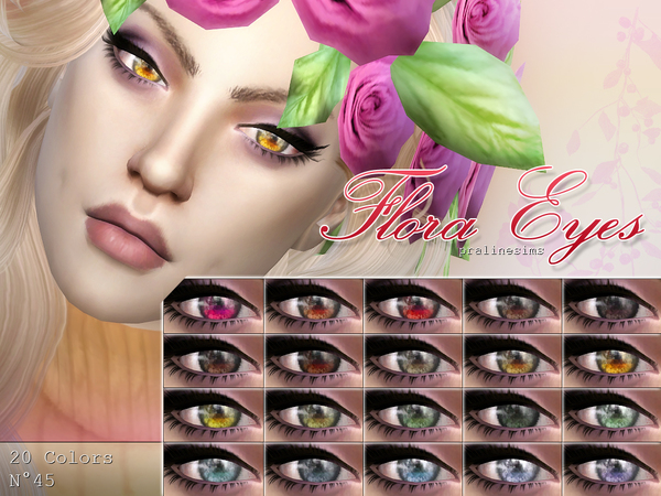 Flora Eyes  N45 by Pralinesims