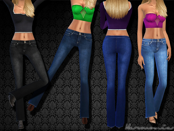 Girl-Next-Door Flared-Jeans by Harmonia