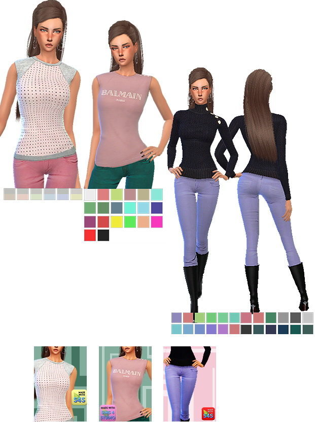 SLEEVELESS T-SHIRTS RECOLORS AND SKINNY JEANS By GISHELD