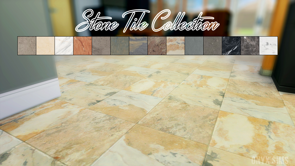 Stone Tile Collection by KiaraRawks - Onyx Sims