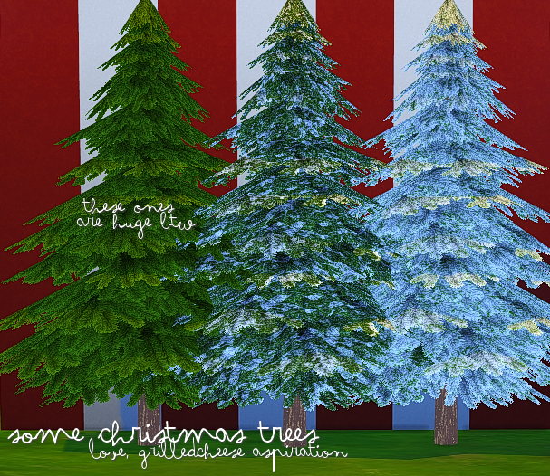 Christmas Trees by GrilledCheeseAspiration