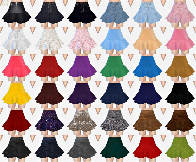 Trumpet Mini Skirt single color by marigold