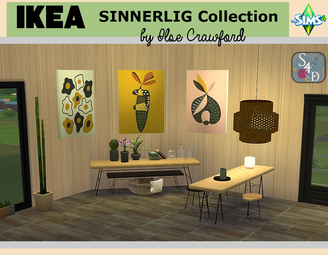 IKEA Sinnerlig Dining Collection by Sims4Designs