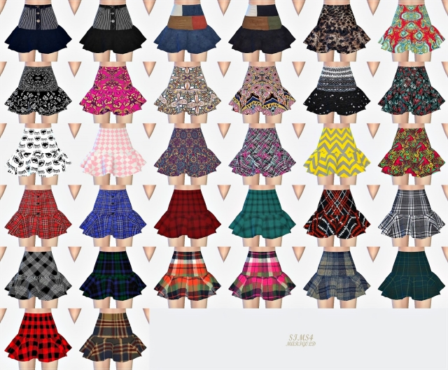 Trumpet Mini Skirt_pattern by marigold