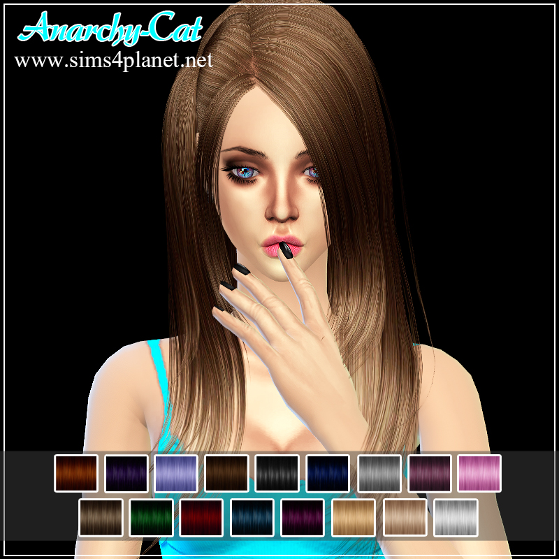 ButterflySims Hair 033 for Females by Anarchy-Cat