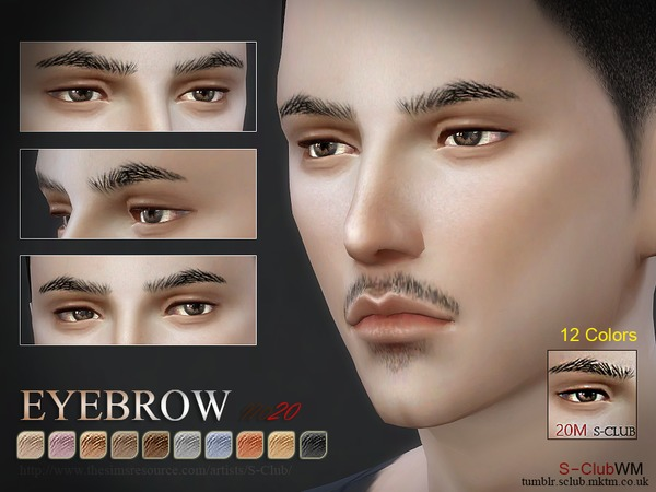 S-Club WM thesims4 Eyebrows 20M