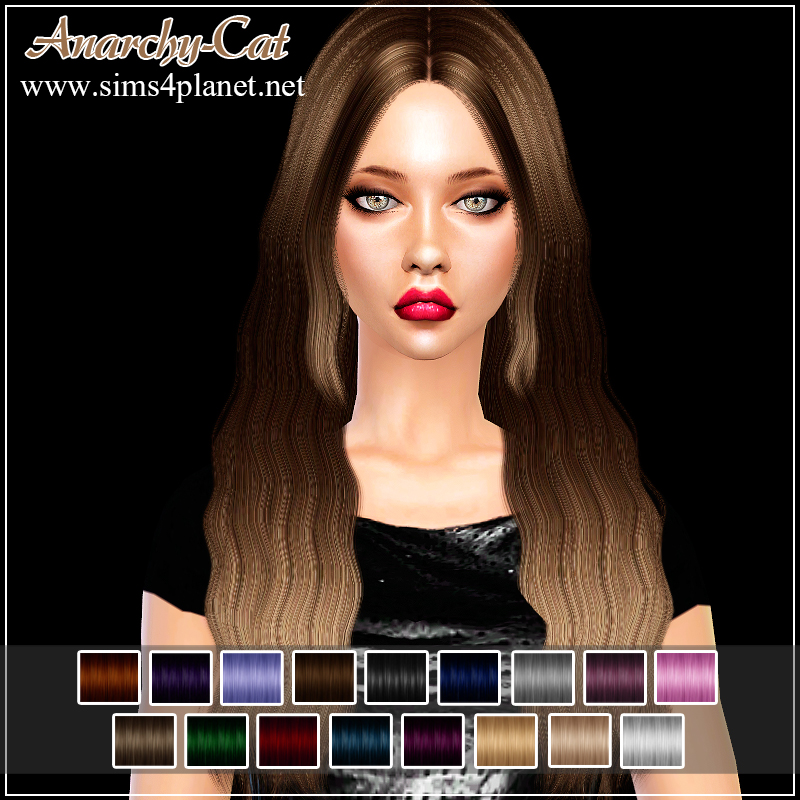Cazy Blackbird Hair for Females by Anarchy-Cat