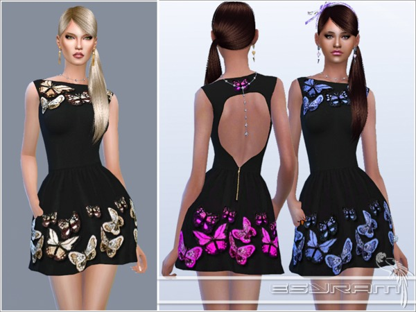 Butterfly crepe dress by EsyraM