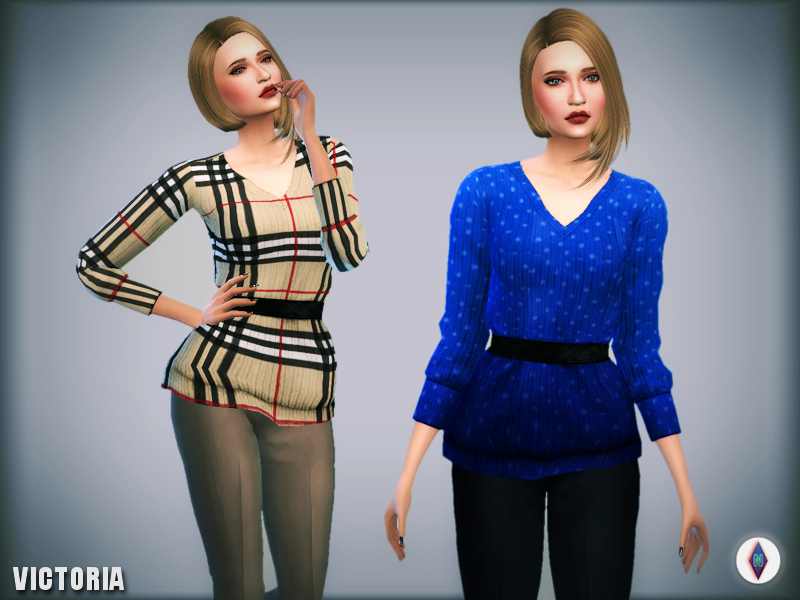 Victoria Jumper Retexture / Recolors by NiteSkkySims